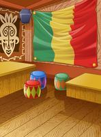 Le club en bois Vector Jamaica est coloré.