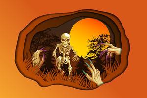Bonne fête d'halloween. vecteur