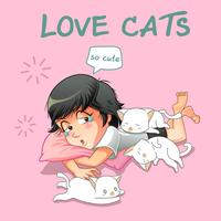 Elle aime les petits chats.