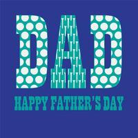 Graphiques de typographie de fête des pères avec des motifs de golf