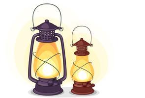 Vieux vecteur de lanterne