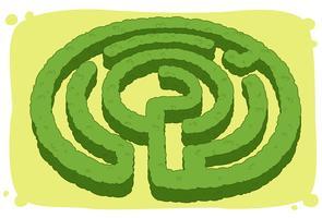 Labyrinthe en forme de cercle vecteur