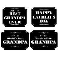 grand-père fête des pères noir blanc