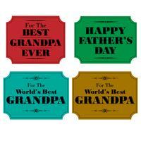 étiquettes de fête des pères papy