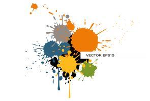 Modèle de brochure moderne avec des éclaboussures de couleur vecteur