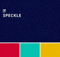 Ensemble de cercles de speckle motif milieux grunge. vecteur
