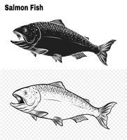 Art du saumon très détaillé dans un style d'art en ligne