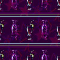 Modèle sans couture avec des cocktails.