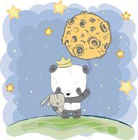 mignon petit panda vecteur