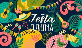 Fête latino-américaine, la fête du mois de juin au Brésil. Festa Junina.