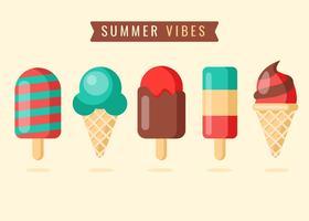Crème glacée d'été vecteur