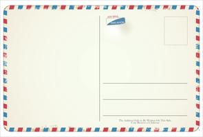Design vintage rétro de carte postale vectorielle