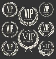 Collection de badges d'or des membres Vip