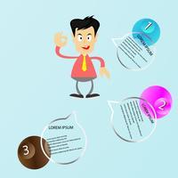 Infographie en 3 étapes vecteur