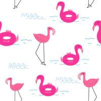 Flamingo de fond, modèle de flamant tropical, illustration vectorielle. vecteur