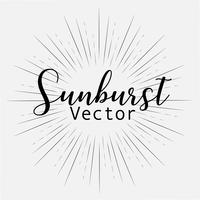 Style sunburst isolé sur fond blanc, illustration vectorielle de rayons de rupture.