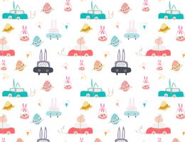 Joyeuses Pâques, mignon modèle de Pâques pour les enfants, illustration vectorielle.