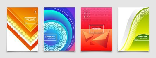 Ensemble de vecteur d'arrière-plans abstraits modernes