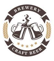 Emblème de tasses à bière vecteur