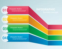 info graphique Modèle vectoriel avec 4 options. Peut être utilisé pour le Web, diagramme, graphique, présentation, graphique, rapport, infographie étape par étape. Abstrait