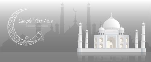 Ramadan kareem Background, bannière de voeux de Ramadan Kareem. vecteur