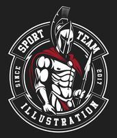 Emblème de gladiateur vecteur