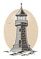 illustration vectorielle phare