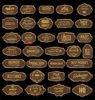 Collection de badges et étiquettes rétro vierges vintage