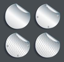 plaque métallique bannière définie illustration vectorielle