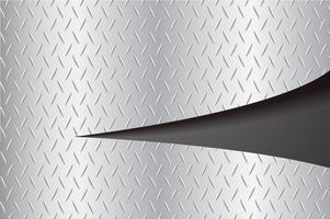 couper la plaque métallique déchirant et illustration vectorielle espace fond noir
