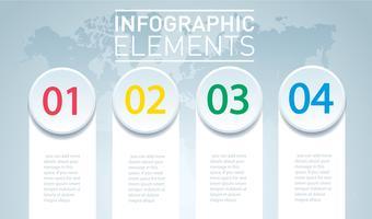 cercle infographique. Modèle vectoriel avec 4 options. Peut être utilisé pour le Web, diagramme, graphique, présentation, graphique, rapport, infographie étape par étape. Abstrait