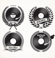 Insignes de vinyles rétro vecteur