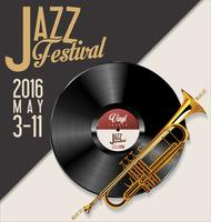 Illustration vectorielle de festival de jazz vecteur