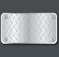 illustration vectorielle de plaque métal bannière fond