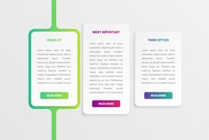 Modèle de carte blanche moderne colorée avec un design coloré