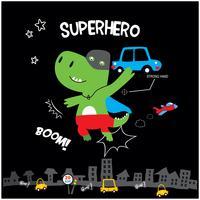 petit dinosaure de super-héros vecteur