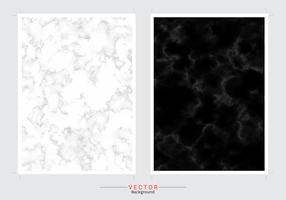 Fond de couverture en marbre noir et blanc. vecteur