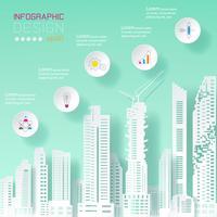 Infographie de l'entreprise sur le concept de construction. vecteur
