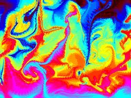 Abstrait art coloré vecteur