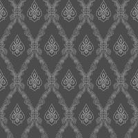 Décoration d'arrière-plan art thaïlandais motif ligné sans soudure.