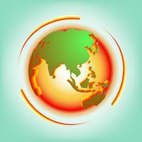 Vecteur abstrait de réchauffement climatique