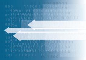 icône de flèche de technologie abstraite et programmation de code informatique codant fond concept hacker