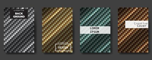 Ensemble de couvertures abstraites modernes. Fond d'affiches colorées, dessin vectoriel. vecteur