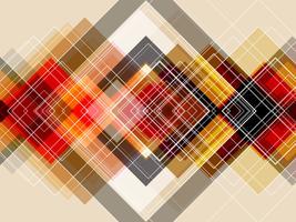 Couche carrée diagonale avec fond abstrait. vecteur