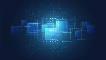 Technologie globale abstraite avec fond de circuits imprimés numériques.