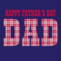 Typographie à carreaux fête des pères