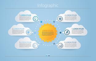 Modèle d'infographie de présentation entreprise. vecteur