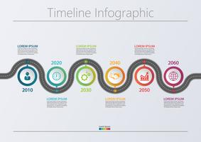 Modèle d'infographie de présentation Business road map. vecteur