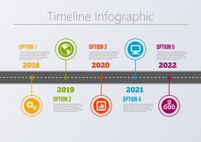 Modèle d'infographie de présentation Business road map.