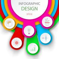 Modèle d'options de nombre infographie abstraite.